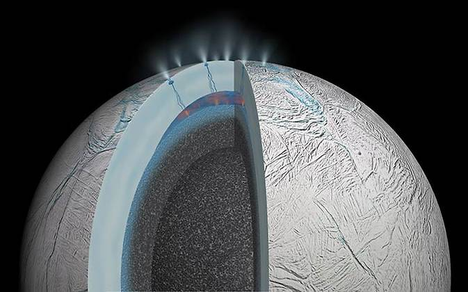 Warm Oceans on Saturns Moon Enceladus Could Harbor Life